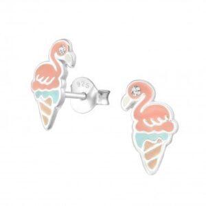 ijsje flamingo oorbel