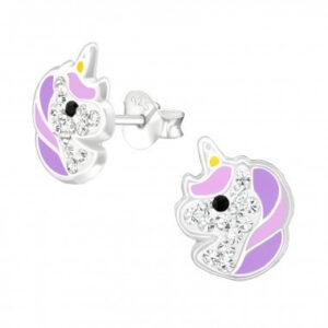 paarse eenhoorn oorbellen